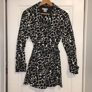 Jackets & Blazers - Zebra Print Trench Coat